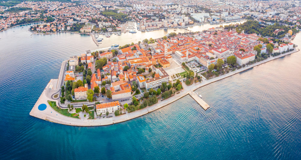 aerial view of Zadar Croatia