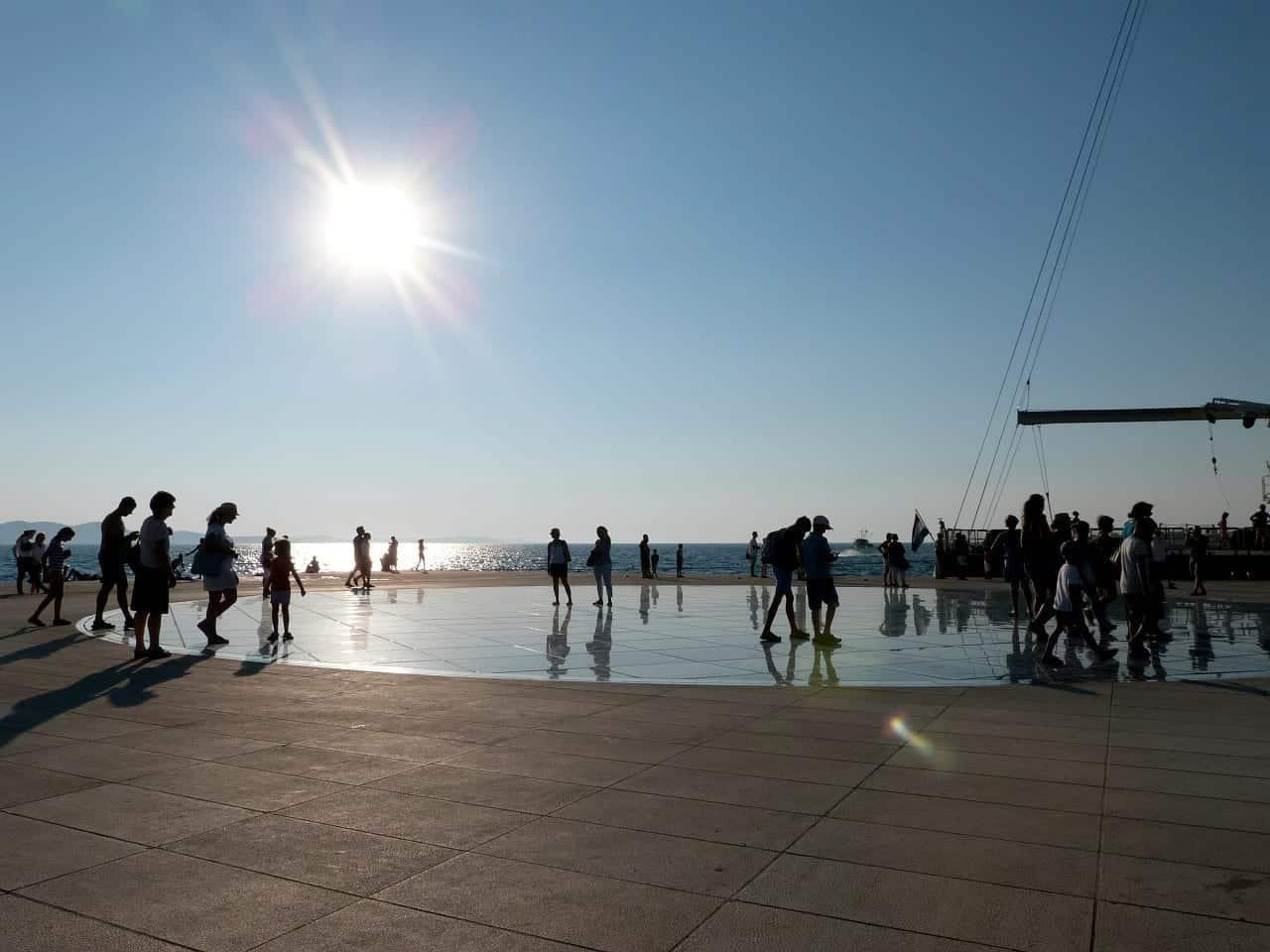 sun salutation Zadar Croatia