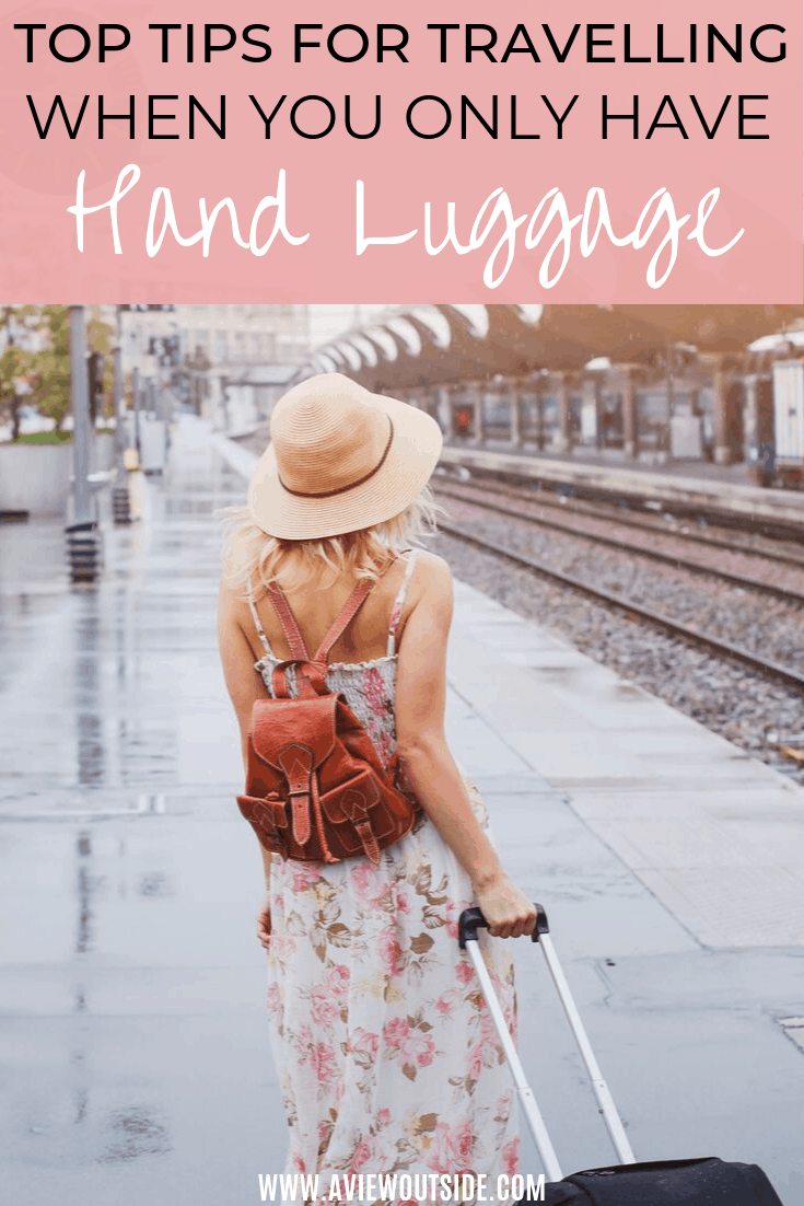 Travel with hand luggage only