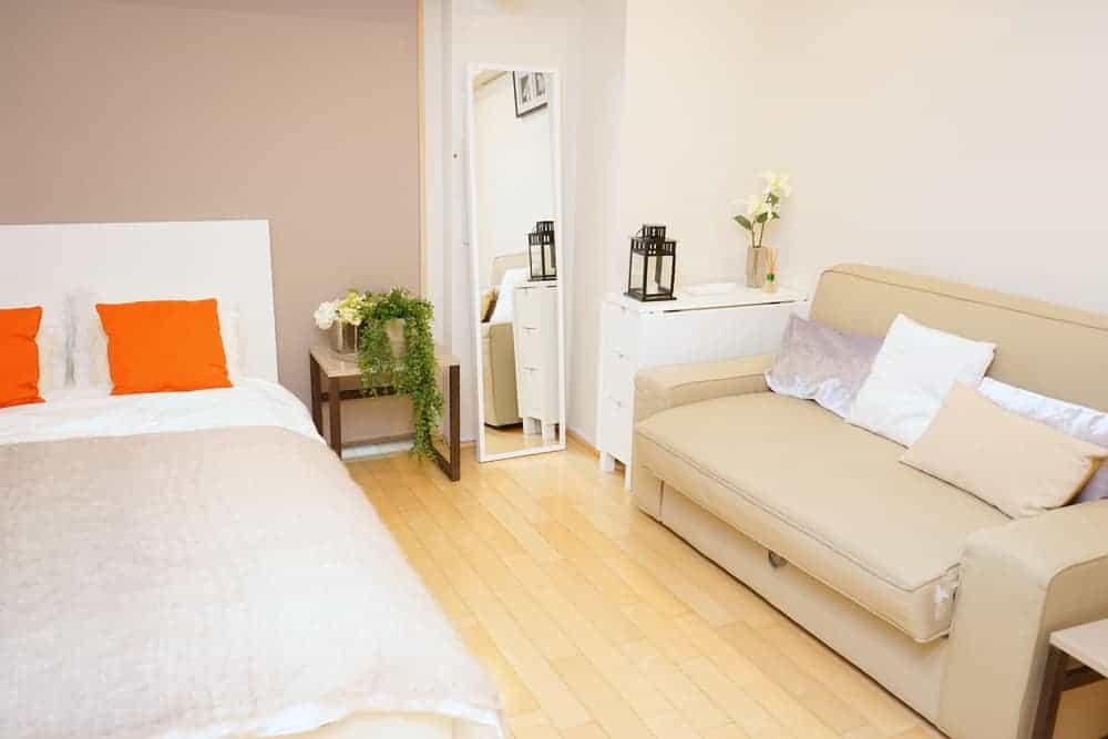 apartment bedroom in japan
