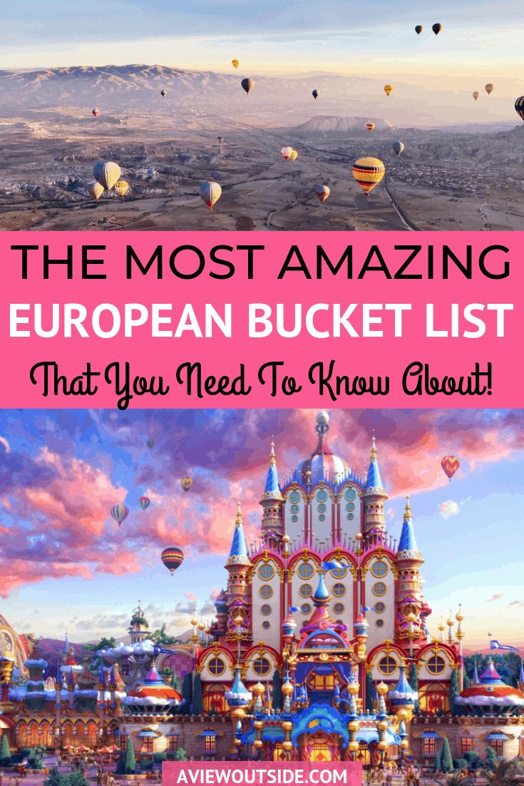 Europe Bucket List