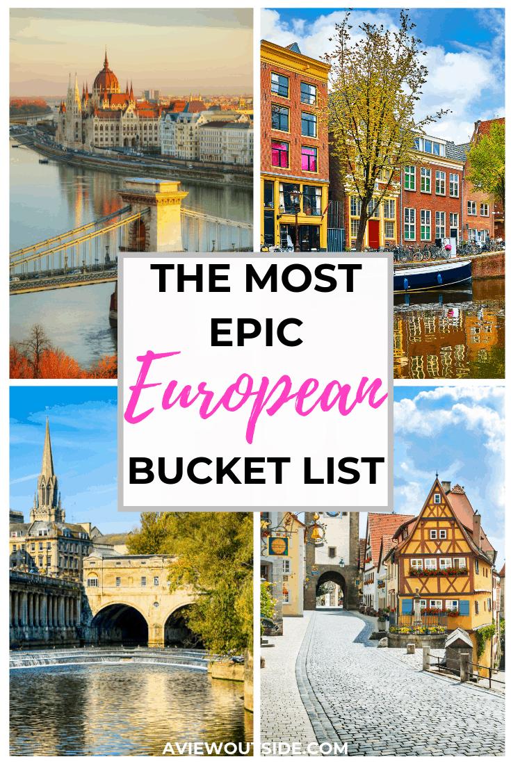 European bucket list destinations