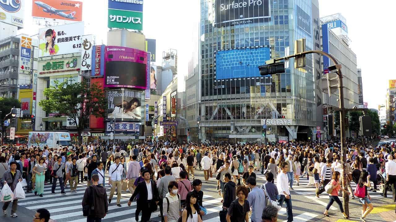 shibuya scramble crossing Tokyo 4 days in Tokyo itinerary