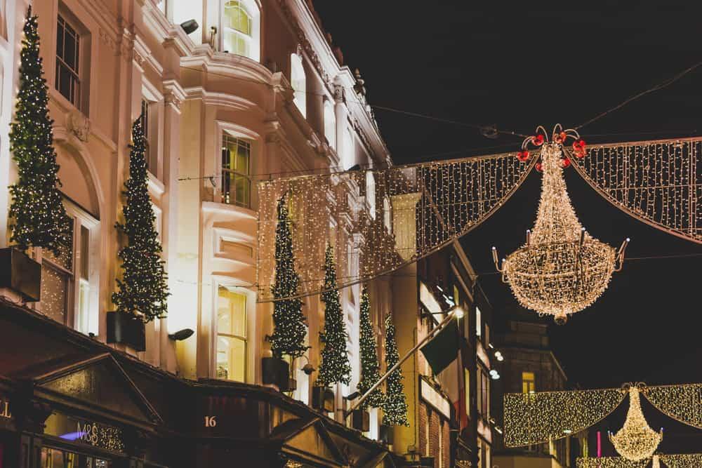 Dublin lights at Christmas