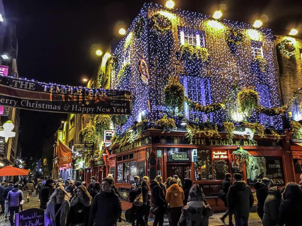 Temple Bar Dublin at Christmas
