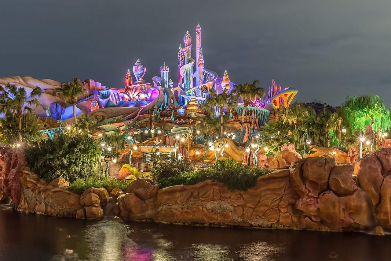 Tokyo Disney Sea at night