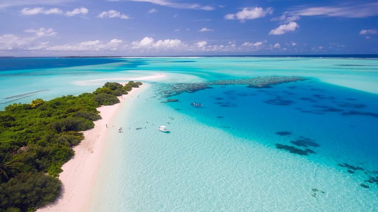 Maldives pink beach
