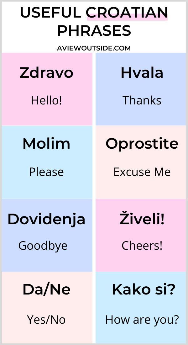 Basic Croatian Phrases For Tourists