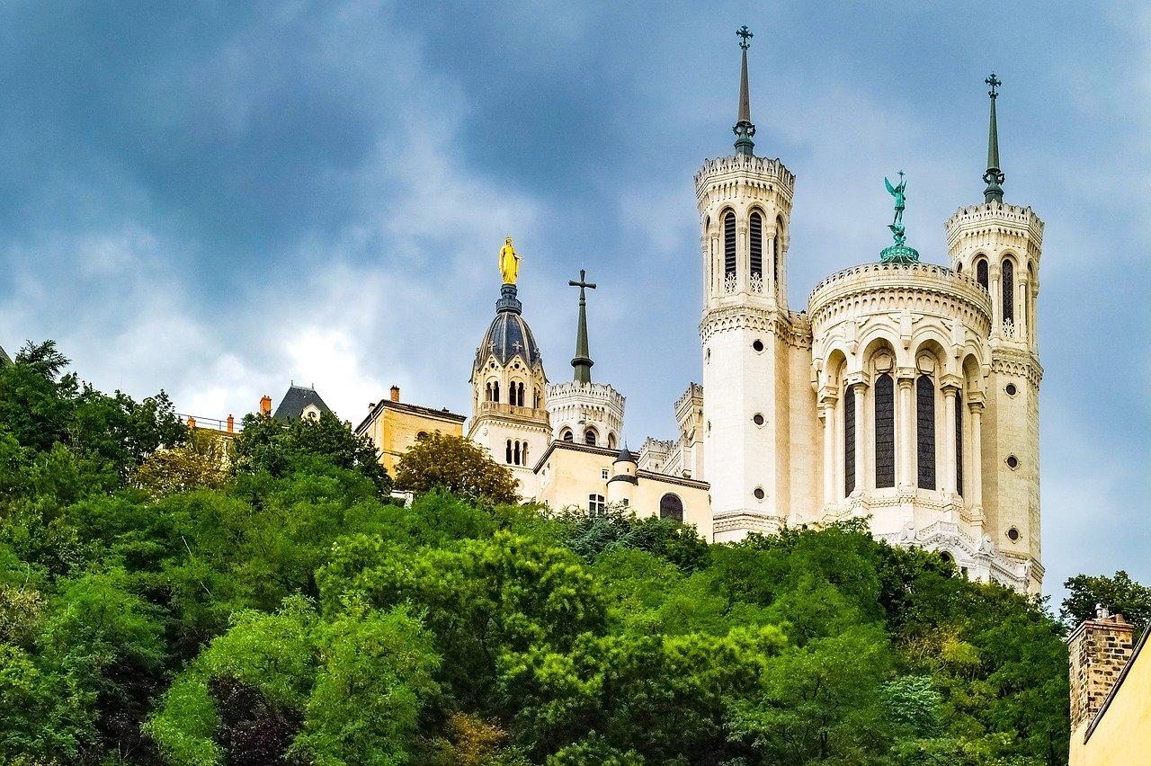 La Basilique Notre Dame de Fourvière, Lyon, France. Hidden gems in Europe