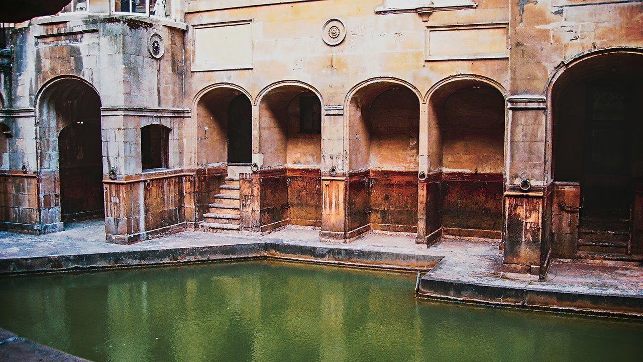 Roman Baths, Bath, United Kingdom. Hidden gems in Europe