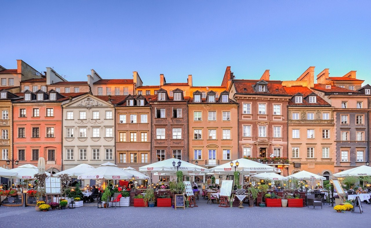 Beautiful town of Warsaw - hidden gems in Europe